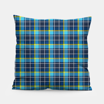 Thumbnail image of Blue and Yellow Check Pillow, Live Heroes