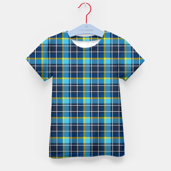 Thumbnail image of Blue and Yellow Check Kid's t-shirt, Live Heroes