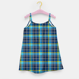 Thumbnail image of Blue and Yellow Check Girl's dress, Live Heroes
