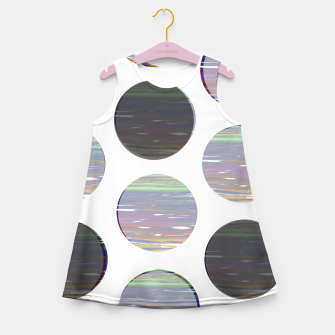Thumbnail image of dots white black  Girl's summer dress, Live Heroes