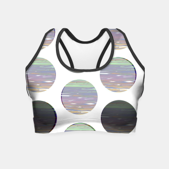Thumbnail image of dots white black  Crop Top, Live Heroes