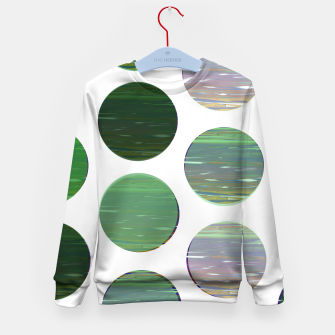 Thumbnail image of dots green  Kid's sweater, Live Heroes