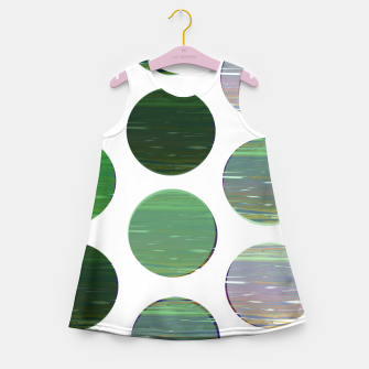 Thumbnail image of dots green  Girl's summer dress, Live Heroes