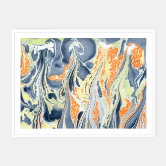 Thumbnail image of Erupting Lava Marbling |  Framed poster, Live Heroes