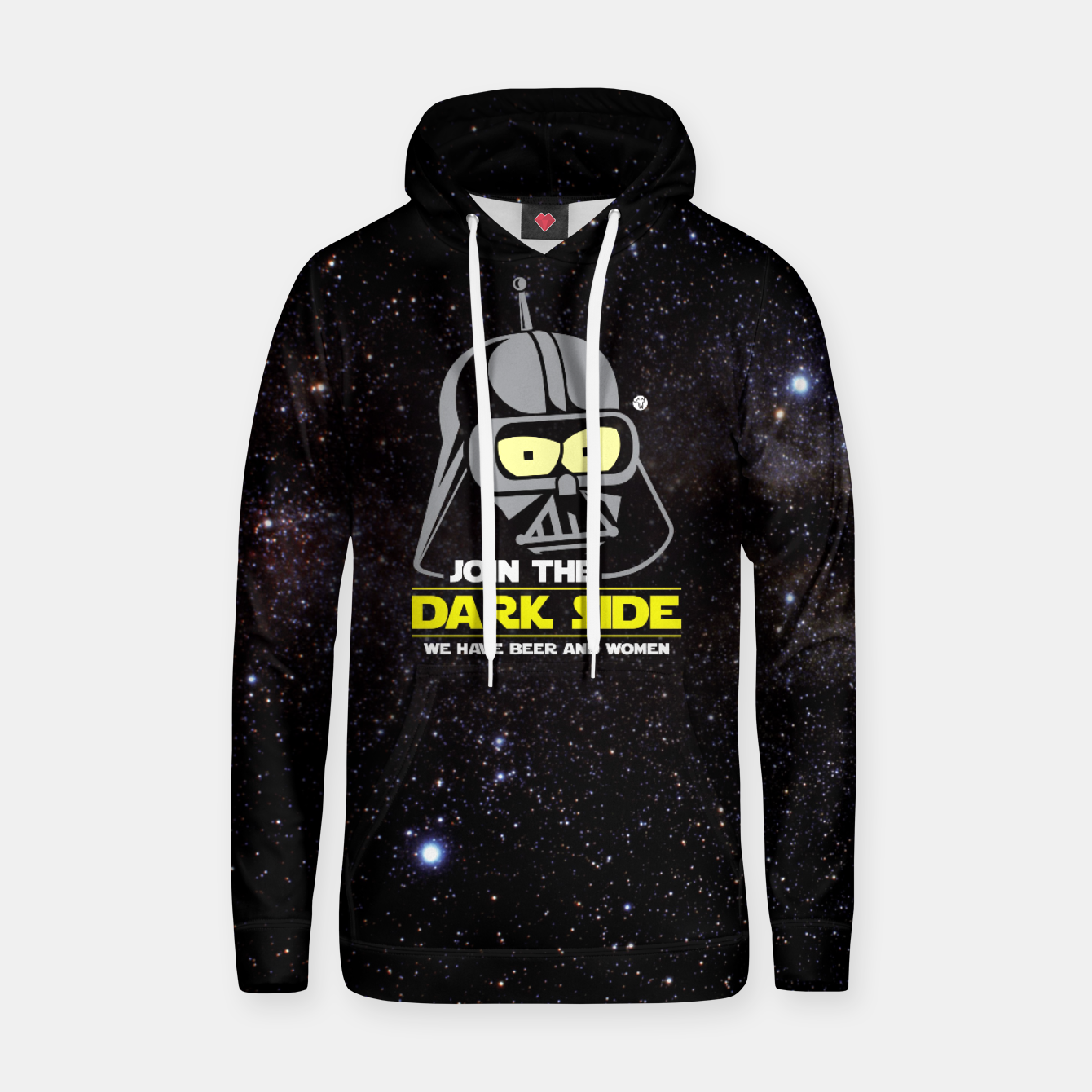 Imagen de Star Wars Futurama - Join the Dark Side Bawełniana bluza z kapturem - Live Heroes