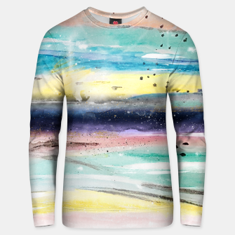 Thumbnail image of Summer watercolor abstract art design Cotton sweater, Live Heroes