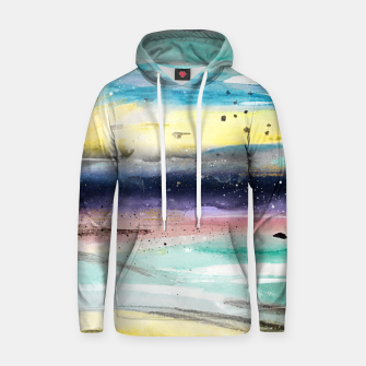Thumbnail image of Summer watercolor abstract art design Cotton hoodie, Live Heroes