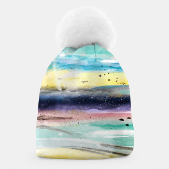 Thumbnail image of Summer watercolor abstract art design Beanie, Live Heroes