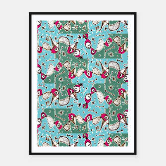 Imagen en miniatura de Colorful Hand Drawn Abstract Pattern Framed poster, Live Heroes