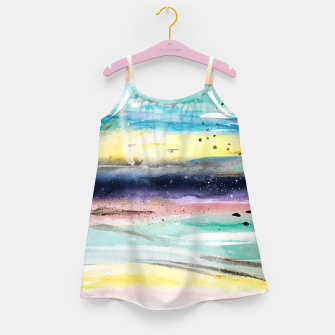 Thumbnail image of Summer watercolor abstract art design Girl's dress, Live Heroes