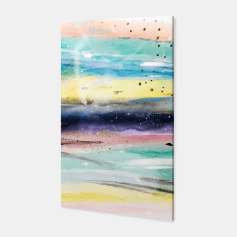 Thumbnail image of Summer watercolor abstract art design Canvas, Live Heroes
