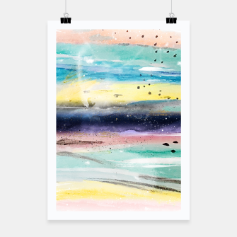 Miniatur Summer watercolor abstract art design Poster, Live Heroes