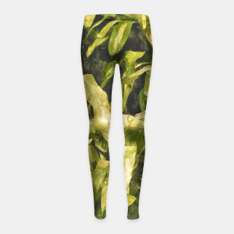 Thumbnail image of Green Nature Girl's leggings, Live Heroes