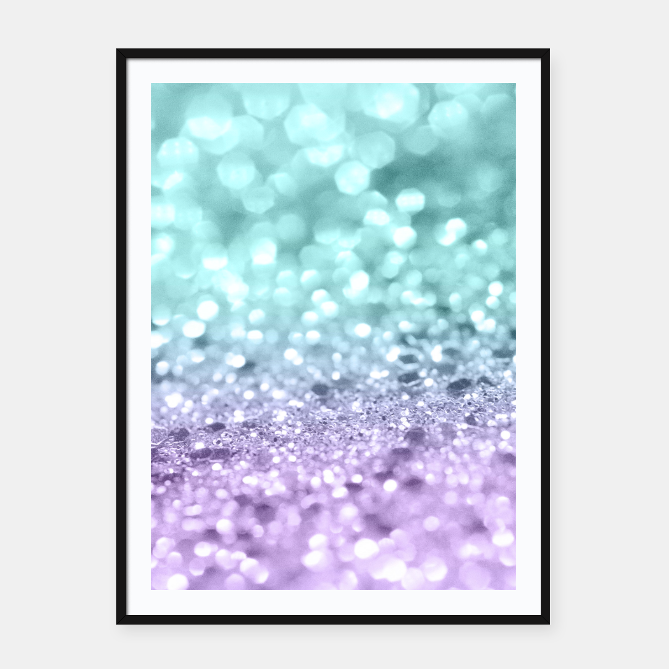 Aqua Purple MERMAID Girls Glitter #1 #shiny #decor #art Plakat mit ...