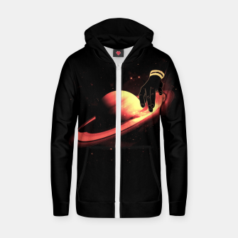 Thumbnail image of Saturntable Cotton zip up hoodie, Live Heroes