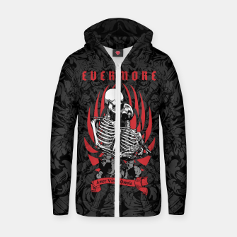 Thumbnail image of Evermore Gothic Skeleton Lovers Cotton zip up hoodie, Live Heroes