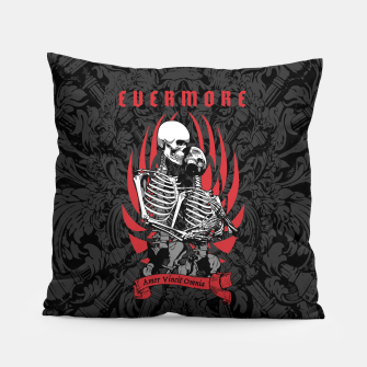 Thumbnail image of Evermore Gothic Skeleton Lovers Pillow, Live Heroes