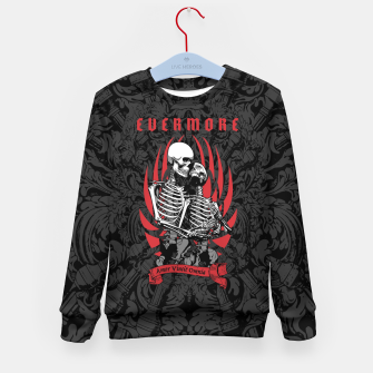 Thumbnail image of Evermore Gothic Skeleton Lovers Kid's sweater, Live Heroes