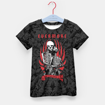Miniaturka Evermore Gothic Skeleton Lovers Kid's t-shirt, Live Heroes