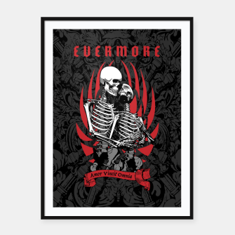 Thumbnail image of Evermore Gothic Skeleton Lovers Framed poster, Live Heroes