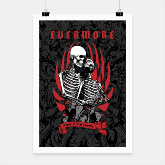 Thumbnail image of Evermore Gothic Skeleton Lovers Poster, Live Heroes