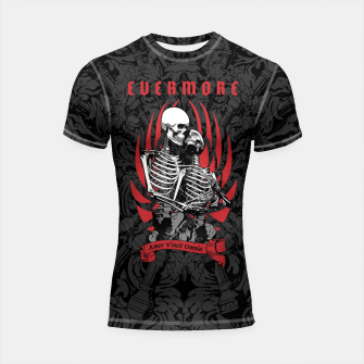 Thumbnail image of Evermore Gothic Skeleton Lovers Shortsleeve rashguard, Live Heroes