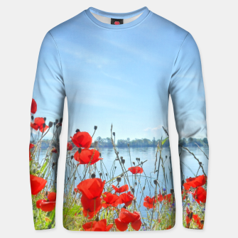 Thumbnail image of Poppies On The Lake Cotton sweater, Live Heroes
