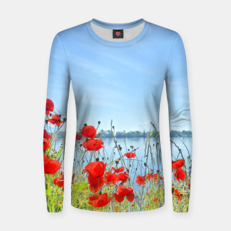 Thumbnail image of Poppies On The Lake Woman cotton sweater, Live Heroes