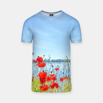 Thumbnail image of Poppies On The Lake T-shirt, Live Heroes