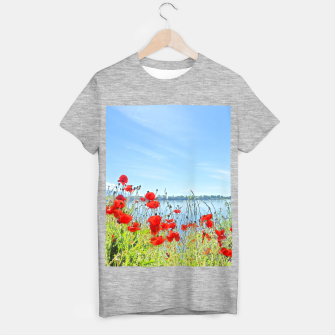 Thumbnail image of Poppies On The Lake T-shirt regular, Live Heroes