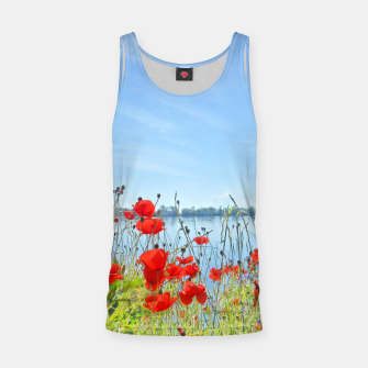 Thumbnail image of Poppies On The Lake Tank Top, Live Heroes