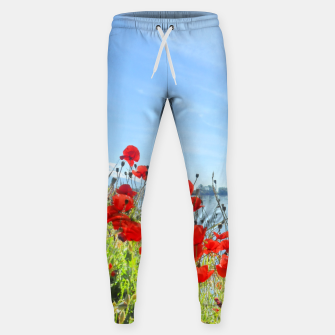 Thumbnail image of Poppies On The Lake Cotton sweatpants, Live Heroes