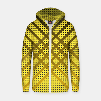 Thumbnail image of Happy Yellow Cotton zip up hoodie, Live Heroes