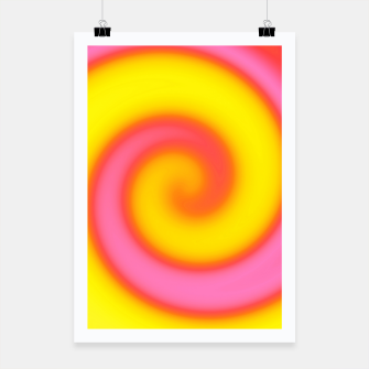 Thumbnail image of Pink and Yellow Swirl Abstract, Live Heroes