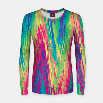 Thumbnail image of Rainbow 22 Woman cotton sweater, Live Heroes
