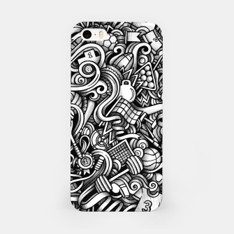 Thumbnail image of sport doodle iPhone Case, Live Heroes