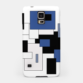 Thumbnail image of Abstract geometric pattern - blue, black and white. Samsung Case, Live Heroes