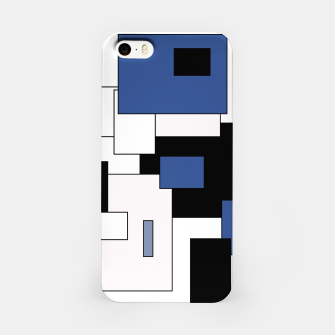 Thumbnail image of Abstract geometric pattern - blue, black and white. iPhone Case, Live Heroes