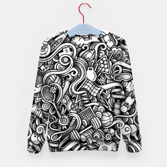 Thumbnail image of sport doodle Kid's sweater, Live Heroes