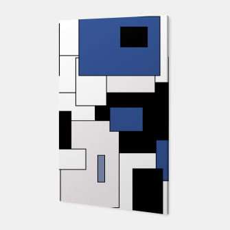 Thumbnail image of Abstract geometric pattern - blue, black and white. Canvas, Live Heroes