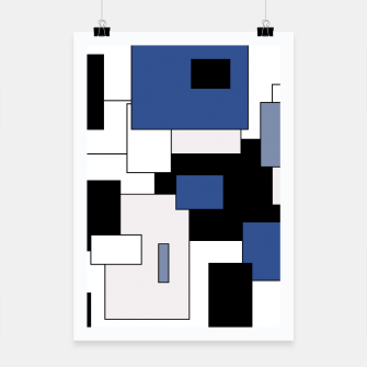 Thumbnail image of Abstract geometric pattern - blue, black and white. Poster, Live Heroes