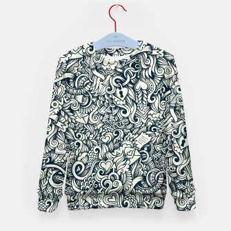 Thumbnail image of love doodle Kid's sweater, Live Heroes
