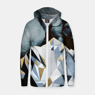 Thumbnail image of Midnight Peaks Cotton zip up hoodie, Live Heroes