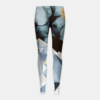 Thumbnail image of Midnight Peaks Girl's leggings, Live Heroes