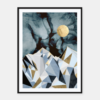 Thumbnail image of Midnight Peaks Framed poster, Live Heroes