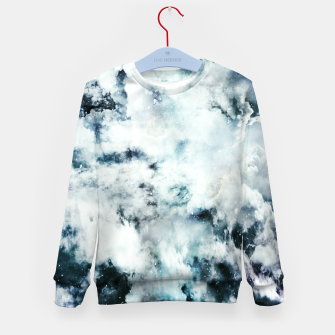 Miniatur White blue marble Kid's sweater, Live Heroes