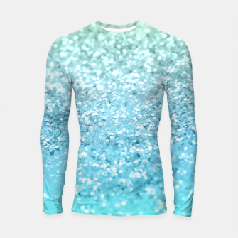 Thumbnail image of Seafoam Aqua Ocean MERMAID Girls Glitter #1 #shiny #decor #art Longsleeve rashguard, Live Heroes