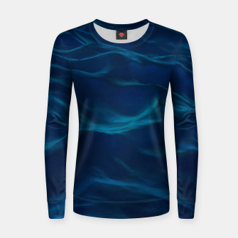 Thumbnail image of Dark Waves Painting Abstract |  Woman cotton sweater, Live Heroes