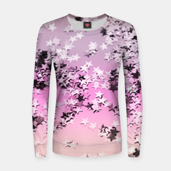 Miniatur Unicorn Girls Glitter Stars #8 #shiny #decor #art Frauen baumwoll sweatshirt, Live Heroes