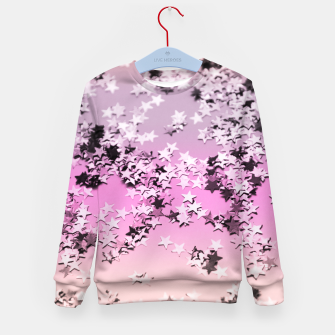 Miniatur Unicorn Girls Glitter Stars #8 #shiny #decor #art Kindersweatshirt, Live Heroes